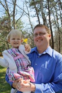 Me and my daughter, April 2011