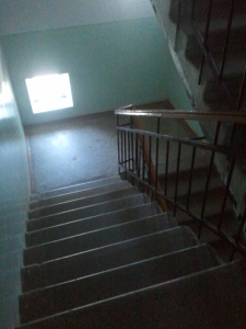 the stairs in the day