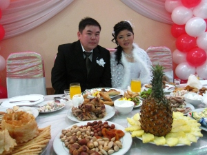 Kyrgyz bride and groom