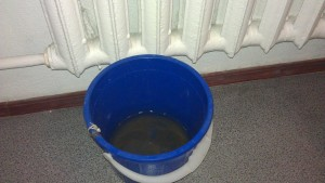 water bucket with a radiator
