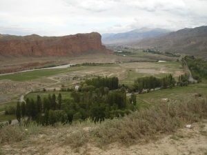 Overlooking the town of Naryn