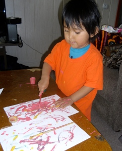 He's growing in his painting skills also!