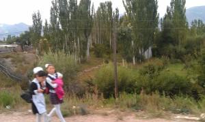 Girls going to school
